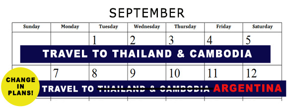 Travel Calendar