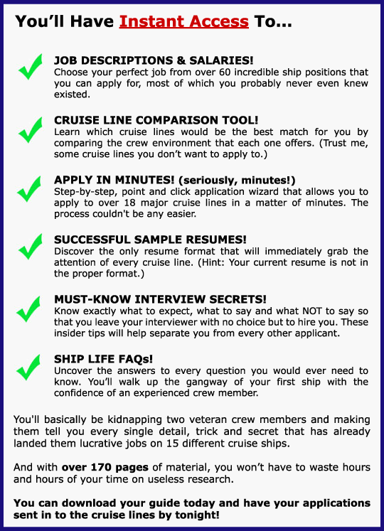 Cruise Ship Job Guide - Description