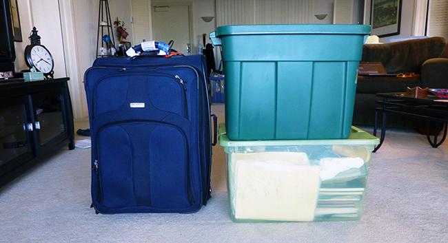 3 boxes of stuff