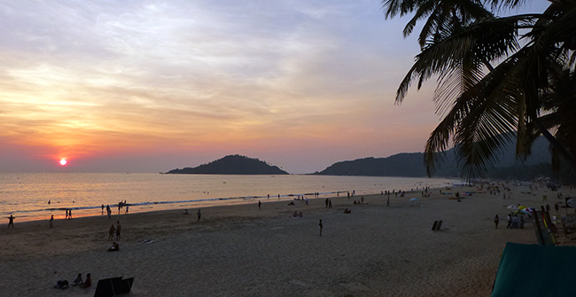 Evening at Palolem Beach, Goa