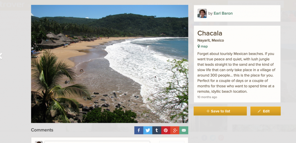 Trover Travel Ideas - Chacala