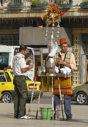 Tea vendor in Aleppo, Syria