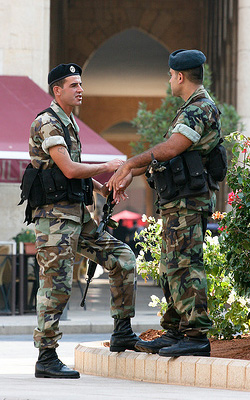 Soldiers in Beirut