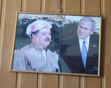 Traveling To Iraq - Bazani and George Bush