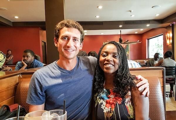 Visit Nairobi - reader in cafe