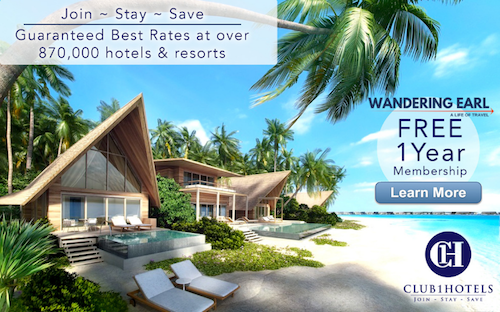 Hotel discounts - free 1 year membership - Wandering Earl
