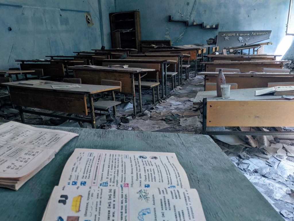 Chernobyl trip - abandoned classroom