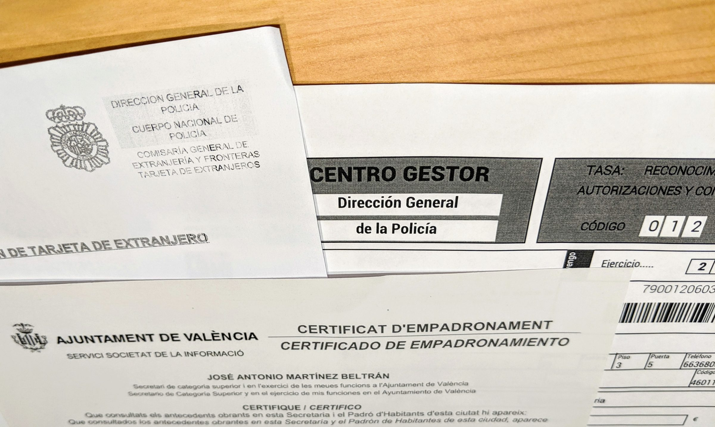 Spanish Residency Card Paperwork